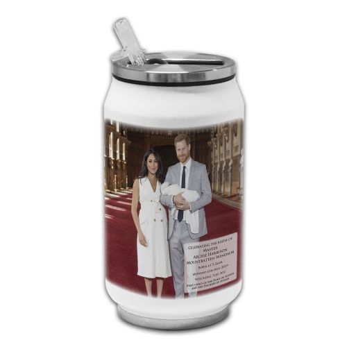Royal Baby Master Archie Harrison Mountbatten-Windsor Novelty Thermos Drinking Can